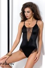 Body Brida  : Body lingerie noir scintillant, souligné de tulle transparent aux riches broderies.