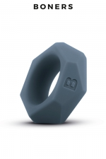 Cockring diamant - Boners : Anneau de pénis extensible et extra doux en silicone, avec design en diamant, pour améliorer votre look et votre érection.