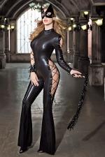 Déguisement Catwoman sexy : Combinaison moulante, masque et fouet, transformez vous en justicière sexy chargée de faire régner la (votre) loi.