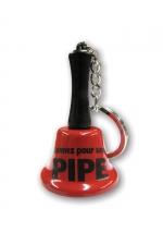 Porte-clés clochette - Sonnez pour une pipe : Agitez la clochette et l'objet de tous vos fantasmes viendra immédiatement vous prodiguer une fellation, ou pas !