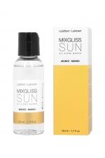 Mixgliss silicone - Monoï - 50ml : Fluide 2 en 1 massage et lubrifiant riche en silicone, parfumé au monoï.