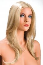 Perruque Olivia  blonde : Perruque blonde aux cheveux longs ayants un aspect naturel. Elle tombe à merveille sur les épaules.